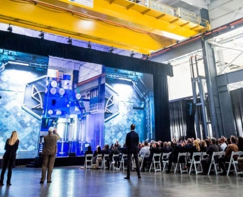 WM Grand Unveiling of 60K Ton Press in Paramount