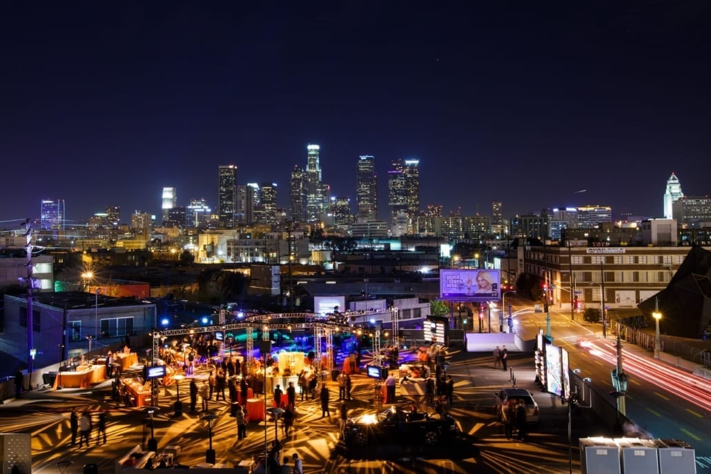 Destination Events with City of Los Angeles in Background