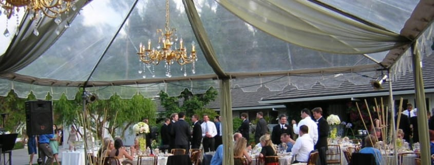 Tented Outdoor Event in a Garden